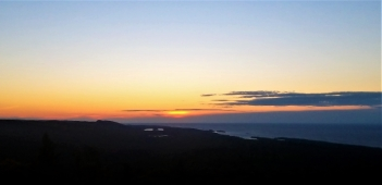 Fading sunset over Lake Superior, Brockway Mountain