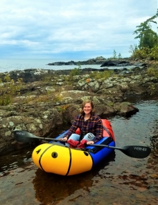 First time in a packraft, Hunter's Point Park