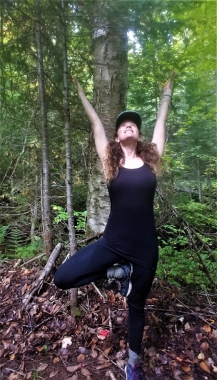 Tree Pose amongst the trees:)