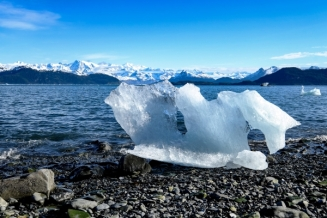 Beached ice, Columbia Bay, Prince William Sound
