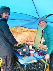 Learning backcountry cooking