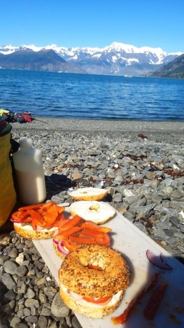Lunch of Alaskan Smoked Salmon