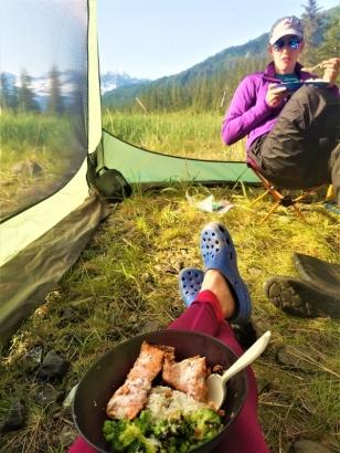 Salmon Dinner, Unakwik Inlet