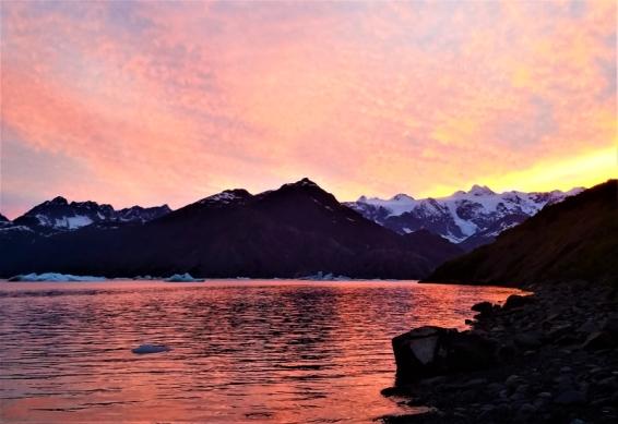Sunset, Columbia Bay