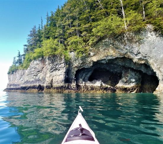 Sea caves, Glacier Island